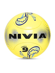 NIVIA Unisex Yellow Ripple Beach Printed Football