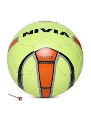 NIVIA Unisex Lime Green Classic Printed Football