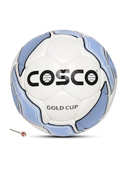 COSCO Unisex White & Blue Gold Printed Football