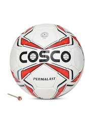 COSCO Unisex White & Red Permalast Printed Football