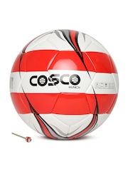 COSCO Unisex Off-White & Red Munich Printed Football