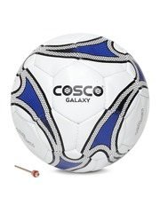 COSCO Unisex White & Blue Galaxy Printed Handsewn Football