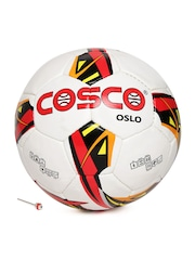 COSCO Unisex Off-White & Red Oslo Printed Football