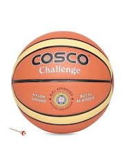 COSCO Unisex Rust Orange Challenge Printed Basketball