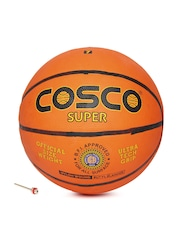 COSCO Unisex Orange & Black Super Printed Basketball
