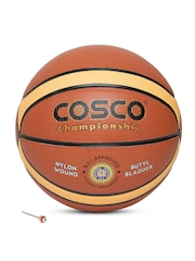 COSCO Unisex Rust Orange Championship Composite Leather Basketball