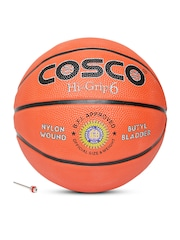 COSCO Unisex Orange Hi-Grip Printed Basketball