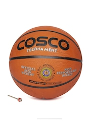 COSCO Unisex Orange & Black Tournament Printed Basketball