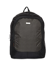 Impulse Unisex Black Checked Backpack