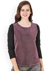 Texco Black & Purple Shimmery Sweatshirt