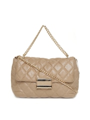 Lisa Haydon for Lino Perros Beige Quilted Handbag with Chain Strap