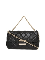 Lisa Haydon for Lino Perros Black Quilted Handbag with Chain Strap