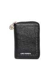 Lisa Haydon for Lino Perros Women Black Zip-Around Wallet