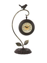 Athome by Nilkamal White Dial Analogue Table Clock