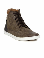 Knotty Derby Men Brown Solid Mid-Top Boots