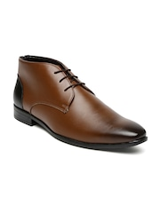 San Frissco Men Tan Brown Mid-Top Formal Derbys