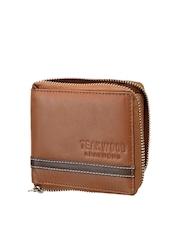Teakwood Leathers Men Tan Brown Genuine Leather Wallet