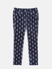 United Colors of Benetton Girls Navy Floral Print Corduroy Jeggings