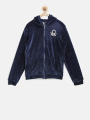 United Colors of Benetton Girls Navy Hooded Sweatshirt
