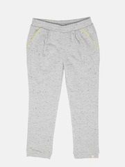 United Colors of Benetton Girls Grey Melange Shimmer Track Pants