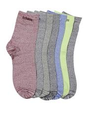 Adidas NEO Set of 7 Men Q3 HR CW Patterned Above Ankle-Length Socks