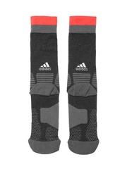 Adidas Unisex Black X Patterned Above Ankle-Length Football Socks