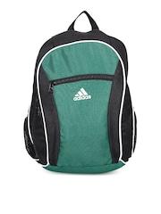 Adidas Men Green & Black Colourblocked Backpack
