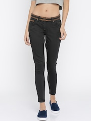Park Avenue Woman Black Mid Rise Clean Look Jeans