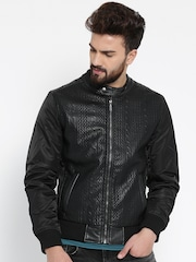 United Colors of Benetton Black Bomber Jacket
