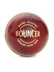 SG Maroon Bouncer Waterproof Genuine Alumhide Leather Cricket Ball