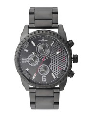 Daniel Klein Exclusive Men Gunmetal-Toned Multifunction Dial Watch DK11035-5