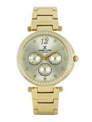 Daniel Klein Exclusive Women Silver-Toned Multifunction Watch DK11063-1