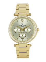 Daniel Klein Exclusive Women Muted Gold-Toned Multifunction Watch DK11063-2