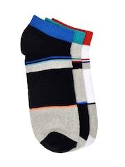 MARC Men Set of 3 Colourblocked Above Ankle-Length Socks