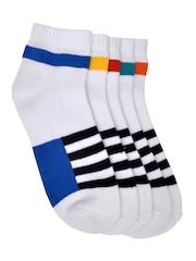 MARC Men Set of 5 Striped Above Ankle-Length Socks