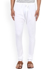 Prayyan White Slim Fit Churidar