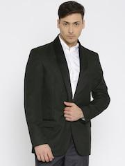 F-Factor by Pantaloons Black Single-Breasted Slim Fit Formal Blazer