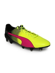 Puma Men Fluorescent Green evoSPEED 1.5 FG Football Shoes