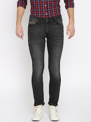John Players Men Black Skinny Fit Mid Rise Clean Look Jeans