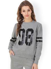 Texco Grey Printed Sweatshirt