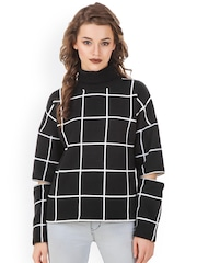 Texco Black & White Checked Sweatshirt