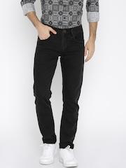 John Players Men Black Skinny Fit Low-Rise Clean Look Jeans