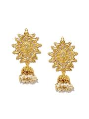 Fabindia Anusuya Gold-Plated Silver Embellished Drop Earrings