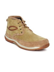 Woodland Men Beige Suede Casual Shoes