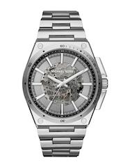 Michael Kors Men Gunmetal-Toned Skeleton Watch MK9021I