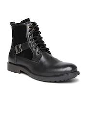 Alberto Torresi Men Black Solid HighTop Boots
