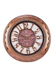 eCraftIndia Grey Dial Round Analogue Wall Clock