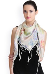 CoolThreads Multicoloured Printed Silk Scarf