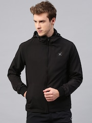 HRX by Hrithik Roshan Black Active Hooded Windcheater