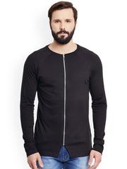 GRITSTONES Men Black Zipper Jacket